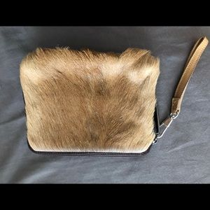 Phillip Lim fur clutch